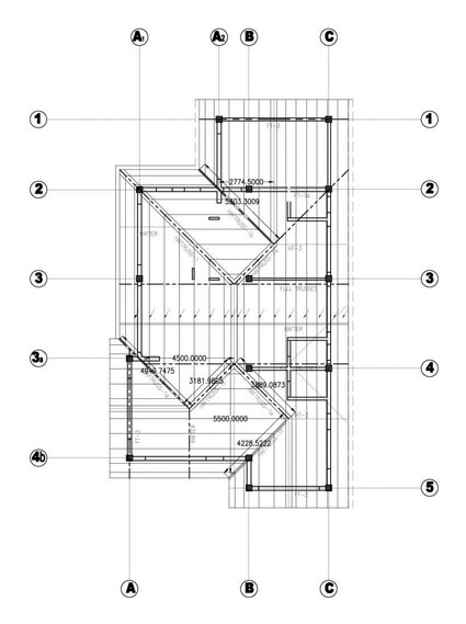 Roof framing plan autocad images for Ceiling framing plan